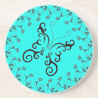 FLORAL TATTOO BUTTERFLY SOAPSTONE COASTER