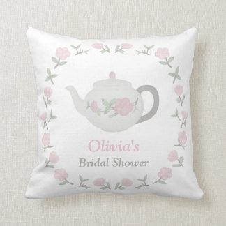 Floral Tea Party Bridal Shower Party Centrepiece Throw Pillow