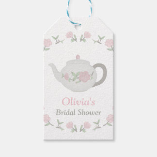 Floral Tea Party Bridal Shower Party Decor Gift Tags