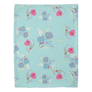 ♛ Floral Teal Duvet Cover