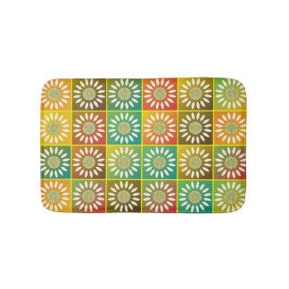 Floral tessellation bathroom mat