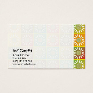 Floral tessellation business card