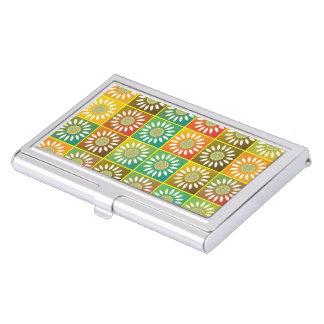 Floral tessellation business card holder