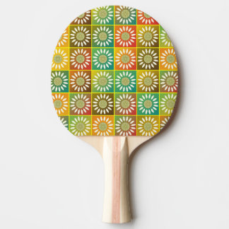 Floral tessellation ping pong paddle