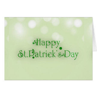 Floral Text Green Happy St. Patrick's Day Card