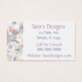 Floral Textile Business Cards