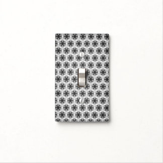 Floral texture light switch cover