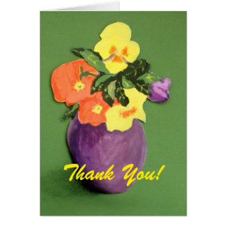 Floral-Thank You Card