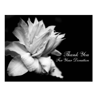 Floral Thank You for Your Donation Customizable C Postcard
