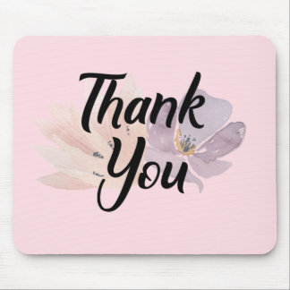 Floral Thank You Gift Mouse Pad