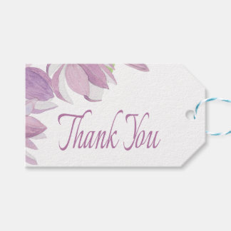 Floral Thank You Lavender Watercolor Purple Flower Pack Of Gift Tags