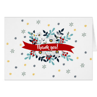 Floral Thank You with Optional Photo Card