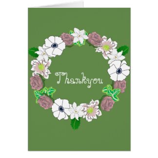 Floral thankyou card