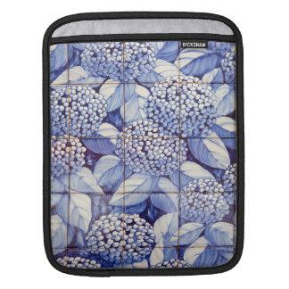 Floral tiles iPad sleeve