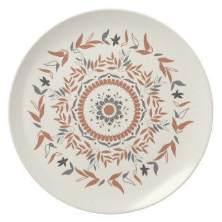 Floral Tiles Plate