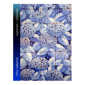 Floral tiles postcard
