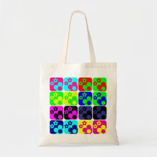 Floral Tiles Tote Bag