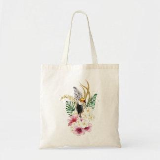 Floral Tote Bag. Exotic Floral Bag