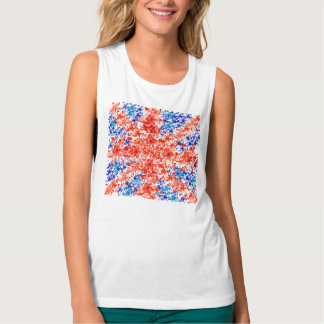 floral trendy union jack,cool the union flag tank top