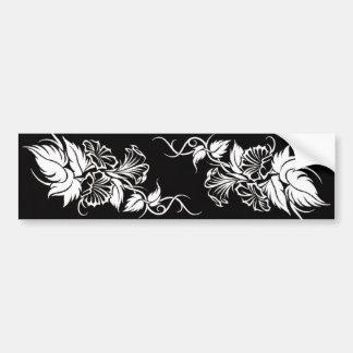 floral tribal vine tattoo bumper sticker