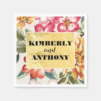 floral tropical beach destination wedding disposable napkins