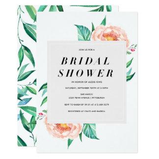 Floral Tropical Bridal Shower Invitation