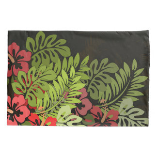 Floral Tropical Hawaii Art Print Pillowcase Color
