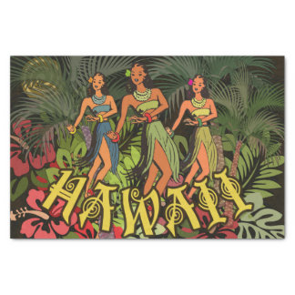 Floral Tropical Hawaii Art Print Wrapping Paper