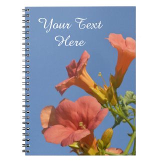 Floral Trumpet Vine Personalized Notebook
