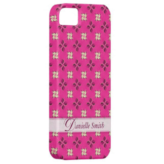 Floral Twist Pink Classic Pattern iPhone 5 Case