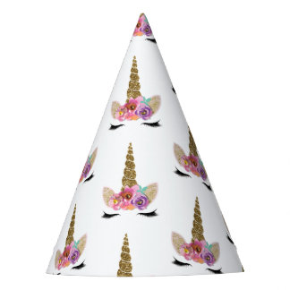 Floral Unicorn Horn Magical Girls Birthday Party Party Hat