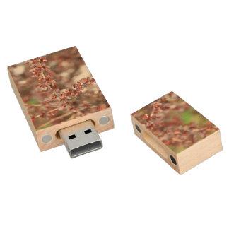 Floral USB Stick Wood USB 2.0 Flash Drive