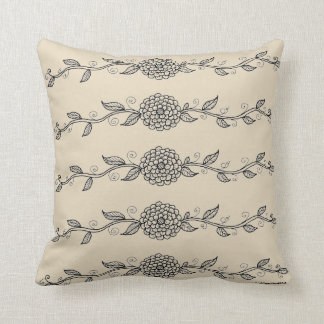 Floral Vine Throw Pillow