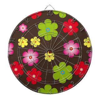 Floral vintage background dartboard