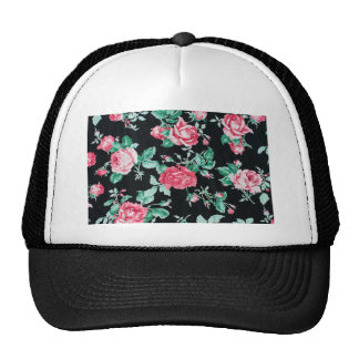 floral vintage chic pattern mesh hats