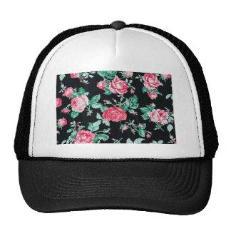 floral vintage chic pattern mesh hats