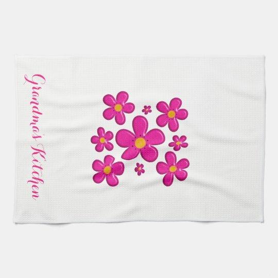floral vintage element kitchen towel