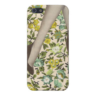 Floral Vintage Flowers and Legs iPhone 4 Skin Case For iPhone 5/5S