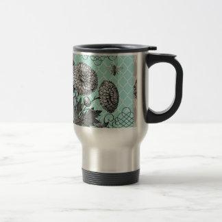 Floral vintage moderne mug de voyage en acier inoxydable