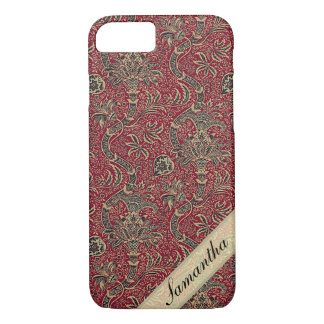 Floral Vintage Pattern Monogram Design iPhone 8/7 Case