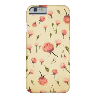 Floral vintage pink girly offwhite 1920s art deco barely there iPhone 6 case