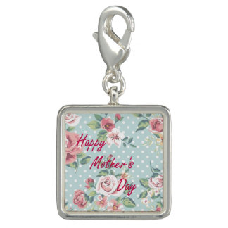 Floral Vintage Print - Happy Mother's Day Charms