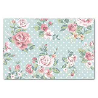 Floral Vintage Print Tissue Paper