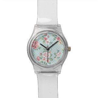 Floral Vintage Print Watch