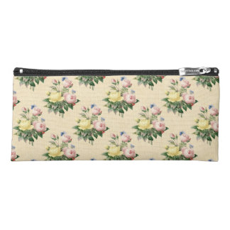 Floral vintage rose flower pattern pencil case