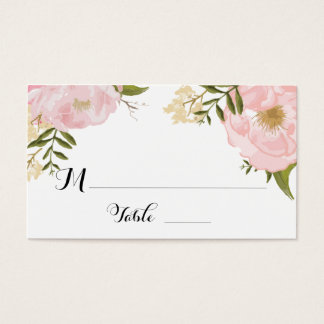 Floral Vintage Spring Wedding Escort Place Card