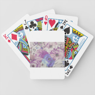 Floral Vintage Wallpaper Pattern Bicycle Playing Cards
