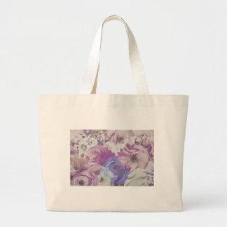 Floral Vintage Wallpaper Pattern Large Tote Bag