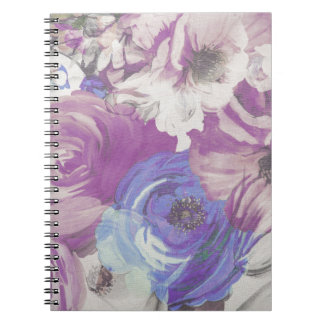 Floral Vintage Wallpaper Pattern Notebook