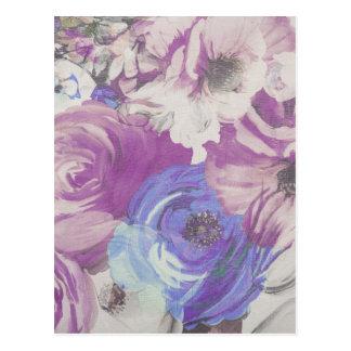 Floral Vintage Wallpaper Pattern Postcard